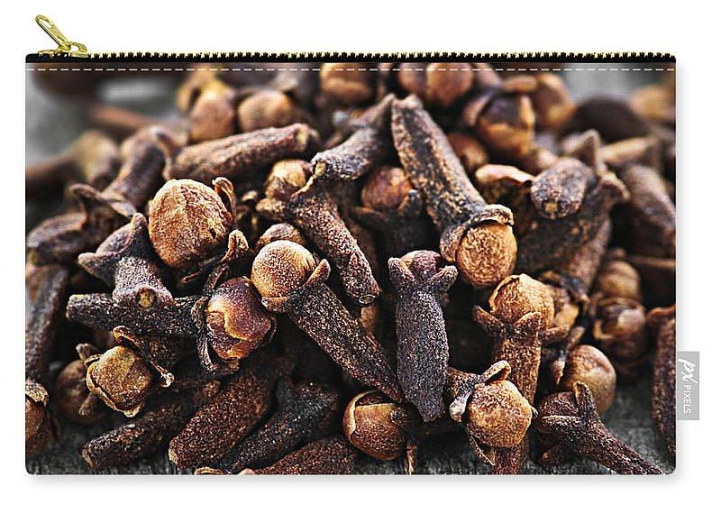 Cloves Carry-all Pouch featuring the photograph Cloves by Elena Elisseeva