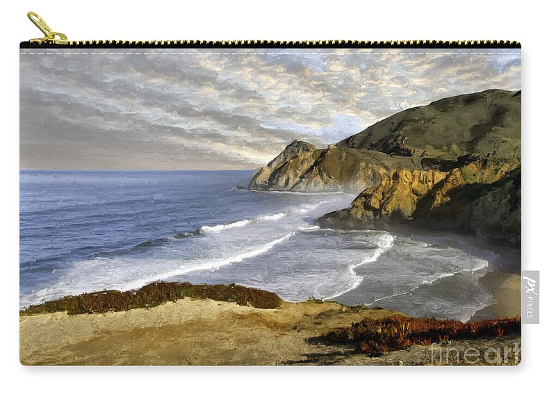 California Carry-all Pouch featuring the photograph Coastal Beauty Impasto by Sharon Foster