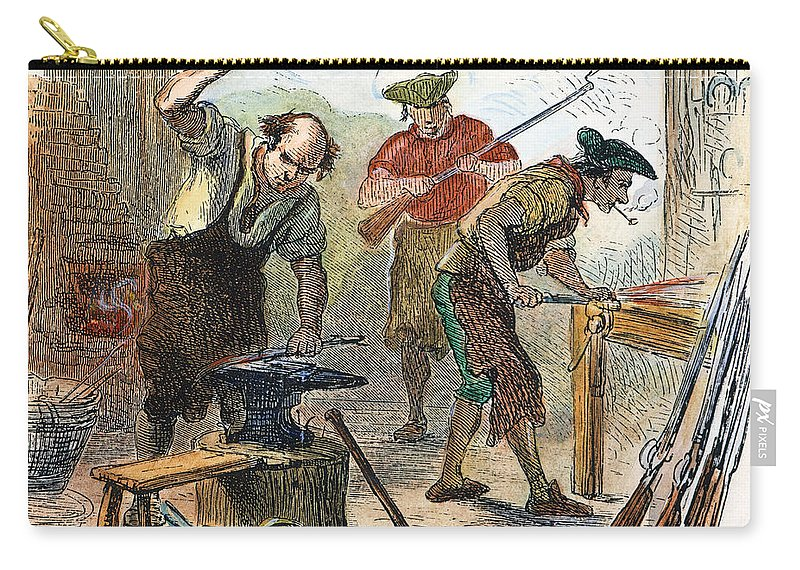 1770s Carry-all Pouch featuring the photograph Colonial Blacksmith, 1776 by Granger