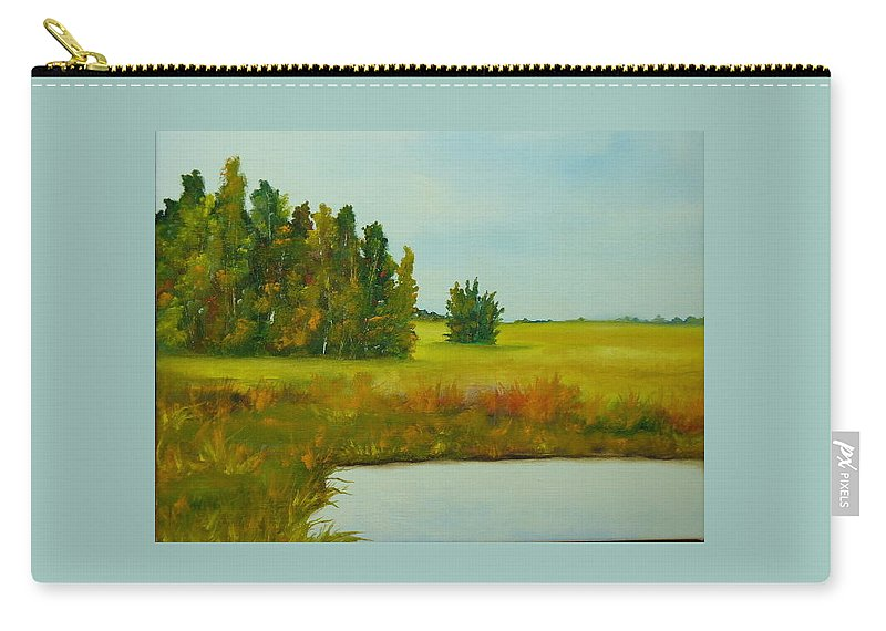 Colorado Carry-all Pouch featuring the painting Colorado Autumn by Lord Frederick Lyle Morris - Disabled Veteran