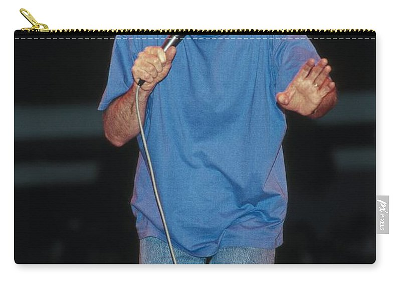 Stand Up Comedian Carry-all Pouch featuring the photograph Comedian George Carlin by Concert Photos