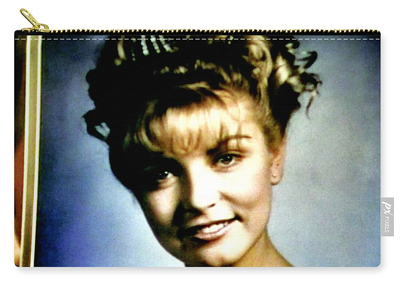 Laura Palmer Carry-all Pouch featuring the painting Coming Home Queen by Luis Ludzska