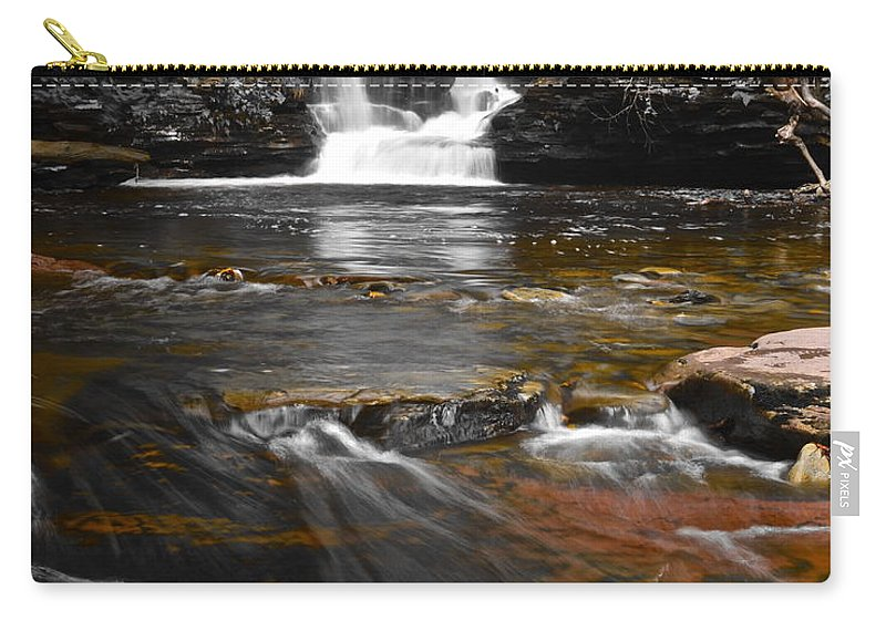 Color Carry-all Pouch featuring the photograph Coming To Life by Frozen in Time Fine Art Photography