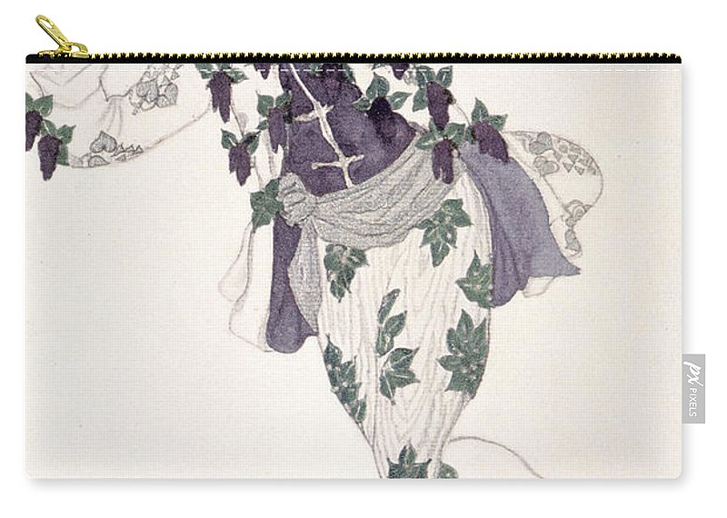 Male Carry-all Pouch featuring the drawing Costume Design For The Pageboy by Leon Bakst