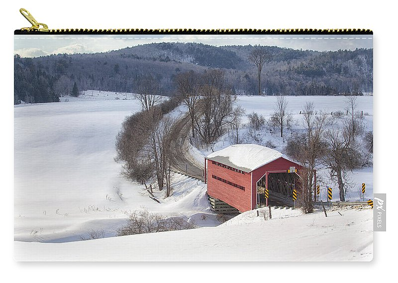 Bridge Carry-all Pouch featuring the photograph Covered Bridge by Eunice Gibb