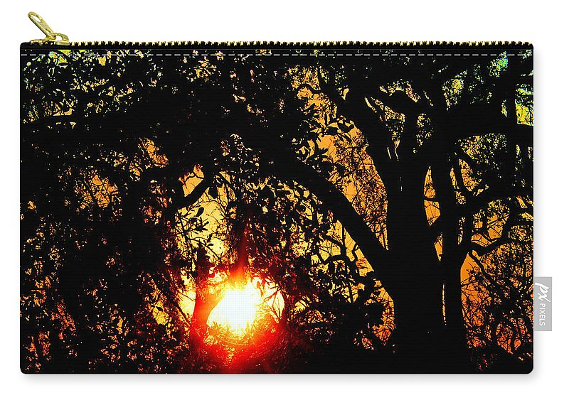 Louisiana Carry-all Pouch featuring the digital art Creole Trail Sunset by Lizi Beard-Ward