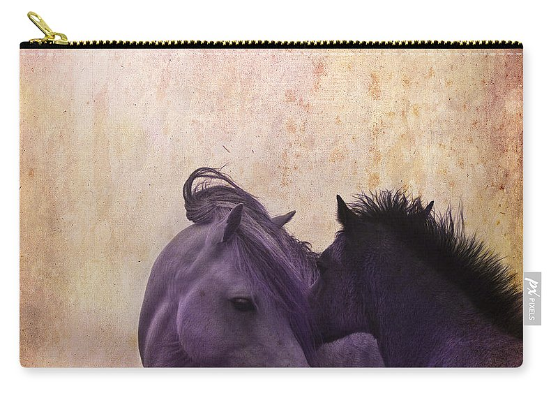 Horse Carry-all Pouch featuring the photograph Cuddle Me by Angel Tarantella