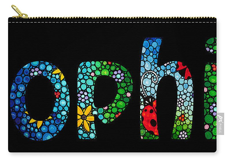 879f67cff Baby Names Carry-all Pouch featuring the painting Customized Baby Kids  Adults Pets Names -
