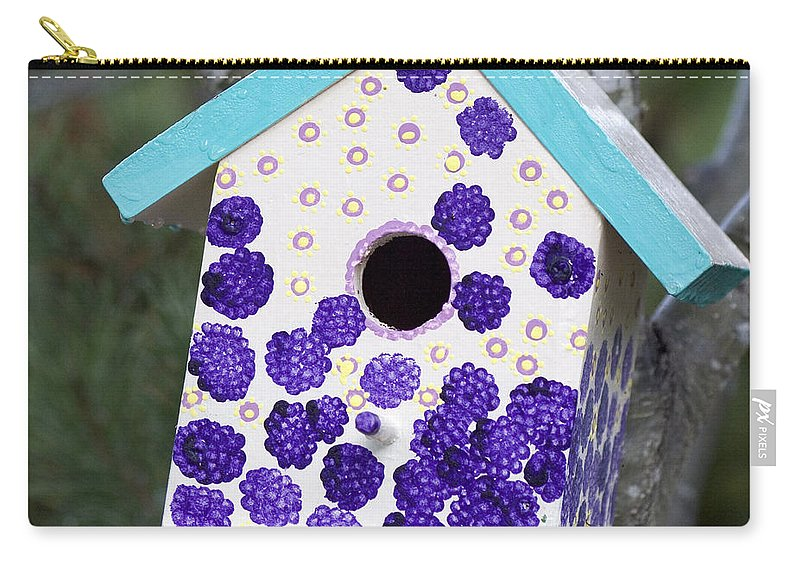 Birdhouse Carry-all Pouch featuring the photograph Cute Little Birdhouse by Carol Leigh