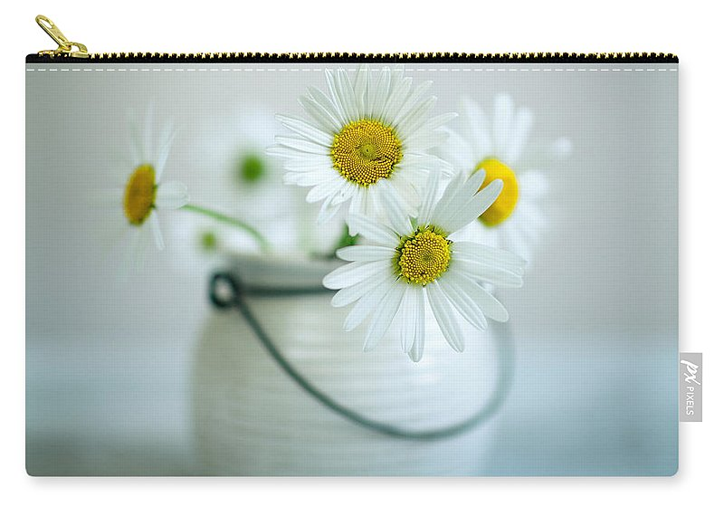 Daisy Carry-all Pouch featuring the photograph Daisy Flowers by Nailia Schwarz