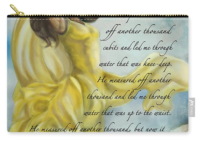Christian Carry-all Pouch featuring the painting Dancing In Glory by Tamer and Cindy Elsharouni