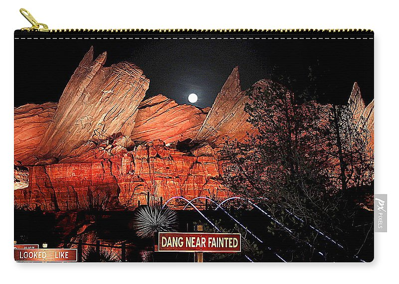 Cars Land Carry-all Pouch featuring the photograph Dang Near Fainted by Allison Werbicki