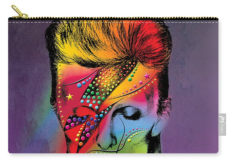 Carry-all Pouch featuring the photograph David Bowie by Mark Ashkenazi