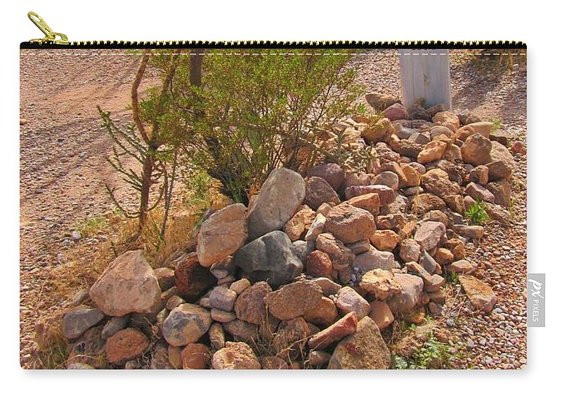 Boothill Cemetary Carry-all Pouch featuring the photograph Dead In Tombstone by John Malone