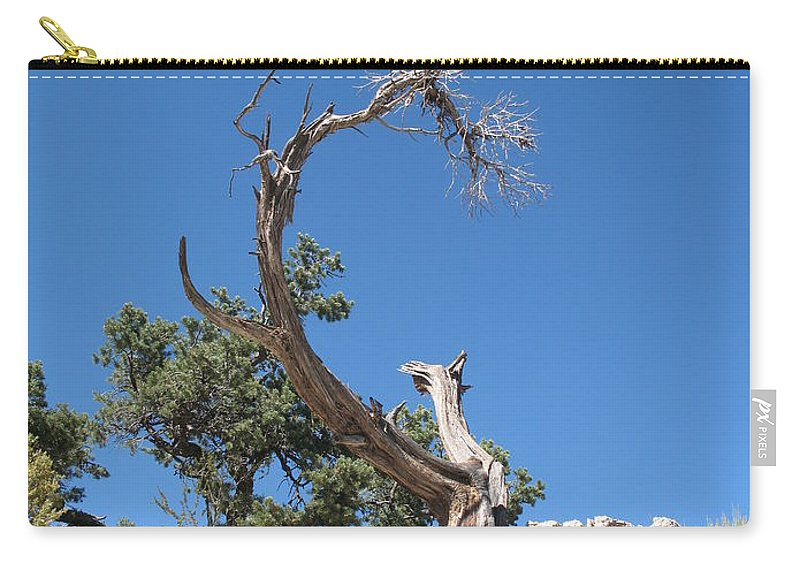 Tree Carry-all Pouch featuring the photograph Dead Tree At Grand Canyon by Christiane Schulze Art And Photography