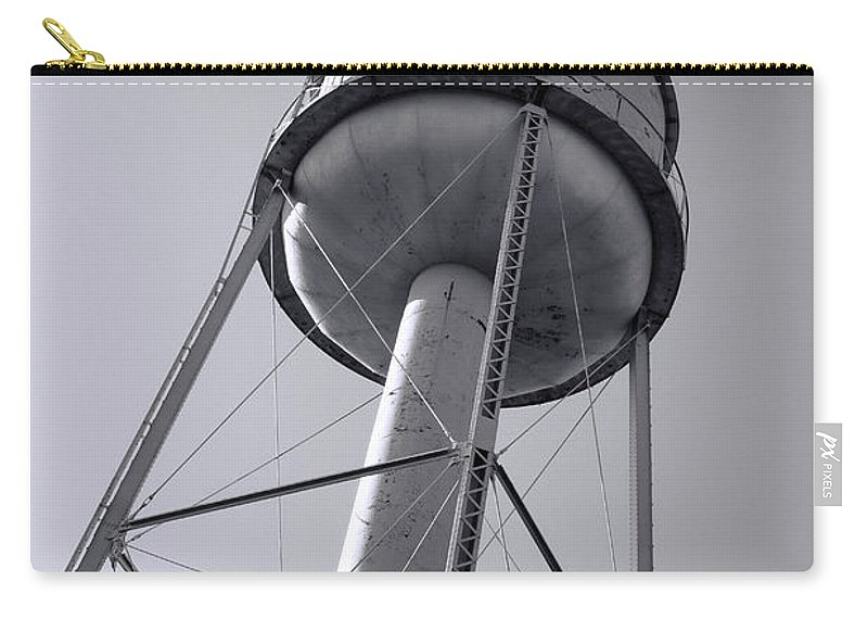 Water Tower Carry-all Pouch featuring the photograph Deer Lodge Montana Water Tower by Cathy Anderson