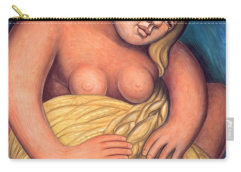 Diego Rivera Carry-all Pouch featuring the painting Detroit Industry - Detail From The East Wall by Diego Rivera