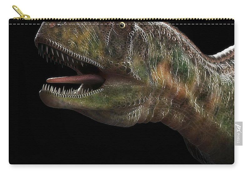 3d Visualization Carry-all Pouch featuring the photograph Dinosaur Aucasaurus by Science Picture Co