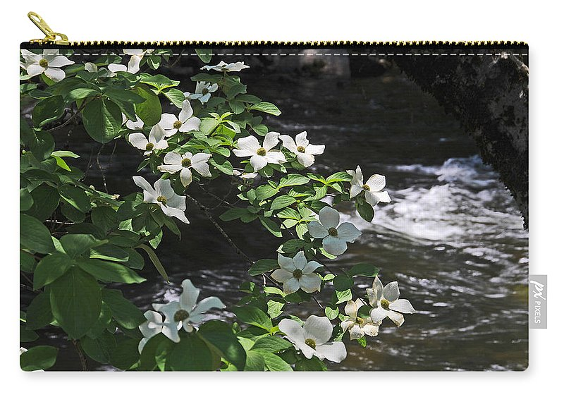 Dogwood Flowers Carry-all Pouch featuring the photograph Dogwoods In Yosemite by Lynn Bauer