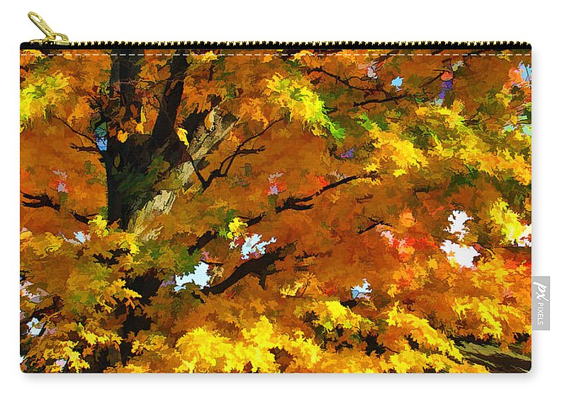 Door County Carry-all Pouch featuring the painting Door County Yellow Maple Migrant Shack by Christopher Arndt