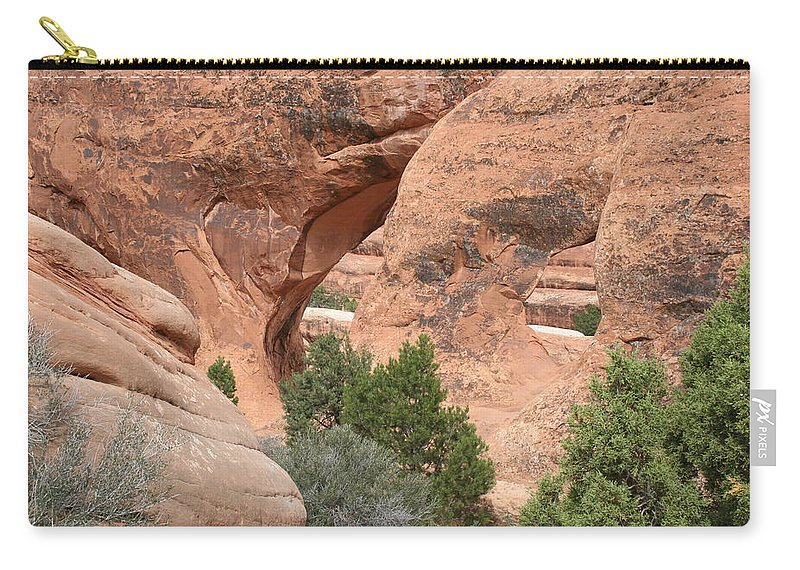 Arch Carry-all Pouch featuring the photograph Double O Arch by Christiane Schulze Art And Photography