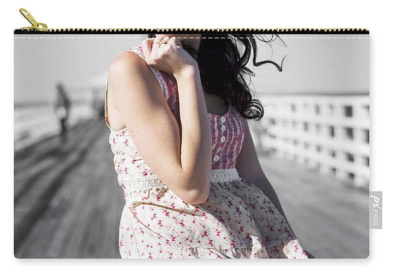 Attractive Carry-all Pouch featuring the photograph Dreaming Female by Jorgo Photography - Wall Art Gallery