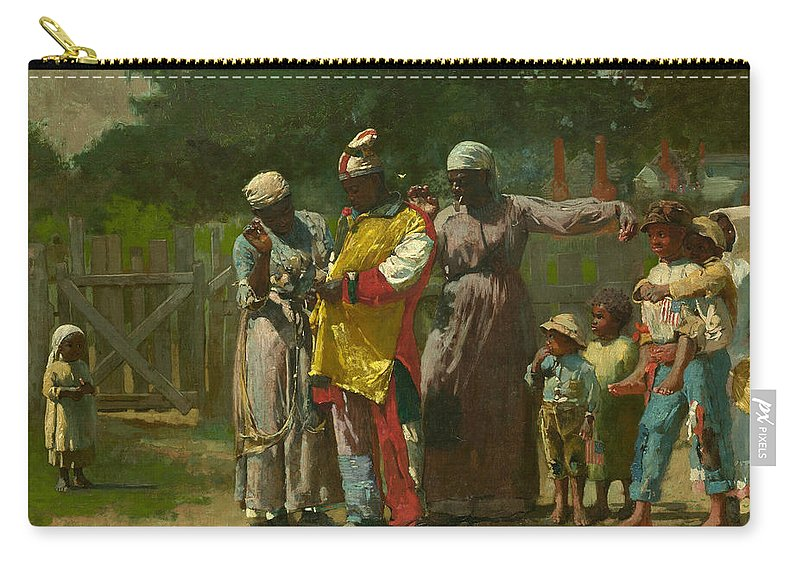 Winslow Homer Carry-all Pouch featuring the painting Dressing For The Carnival by Winslow Homer