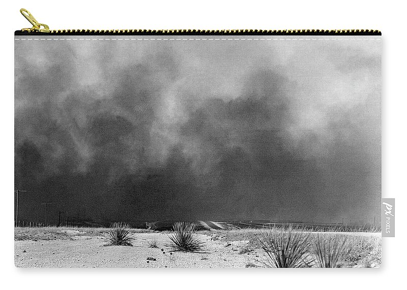 1936 Carry-all Pouch featuring the photograph Drought Dust Storm, 1936 by Granger