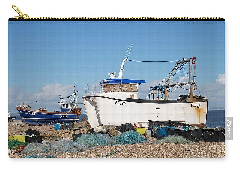 Dungeness Carry-all Pouch featuring the photograph Dungeness Fishing Boats by David Fowler