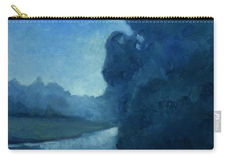 Dusk Carry-all Pouch featuring the painting Dusk by Katherine Miller