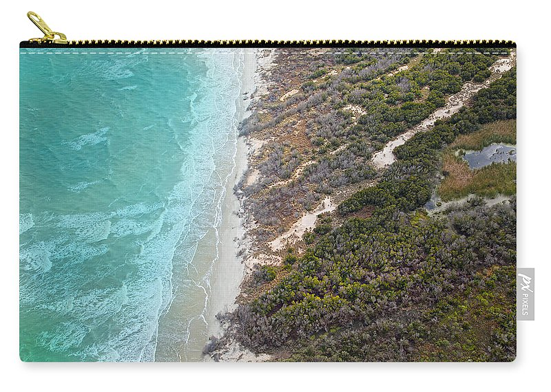 Jekyll Carry-all Pouch featuring the photograph East Coast Aerial Near Jekyll Island by Betsy Knapp