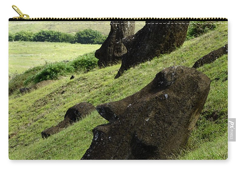 Easter Island Carry-all Pouch featuring the photograph Easter Island 17 by Bob Christopher