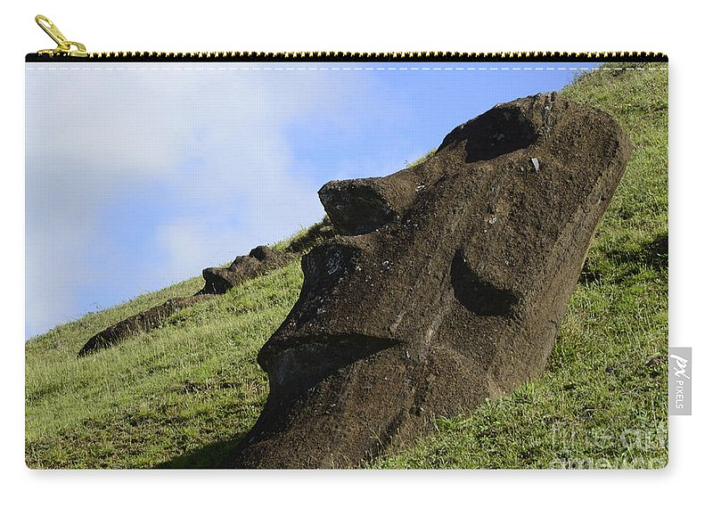 Easter Island Carry-all Pouch featuring the photograph Easter Island 18 by Bob Christopher