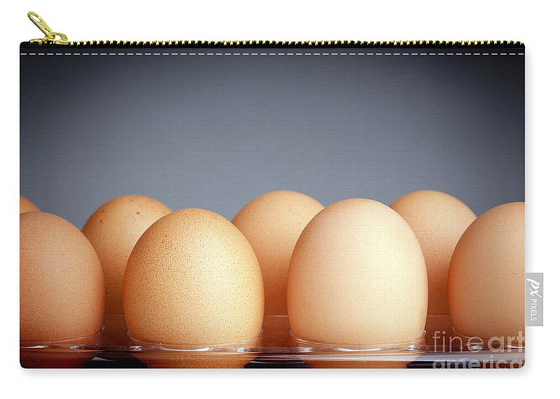 Carton Carry-all Pouch featuring the photograph Eggs by Tim Hester