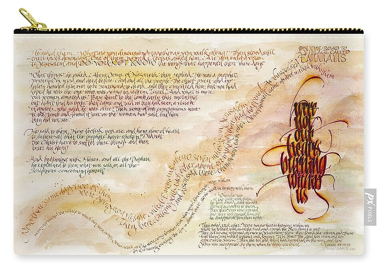 God's Faithfulness Carry-all Pouch featuring the painting Emmaus by Judy Dodds