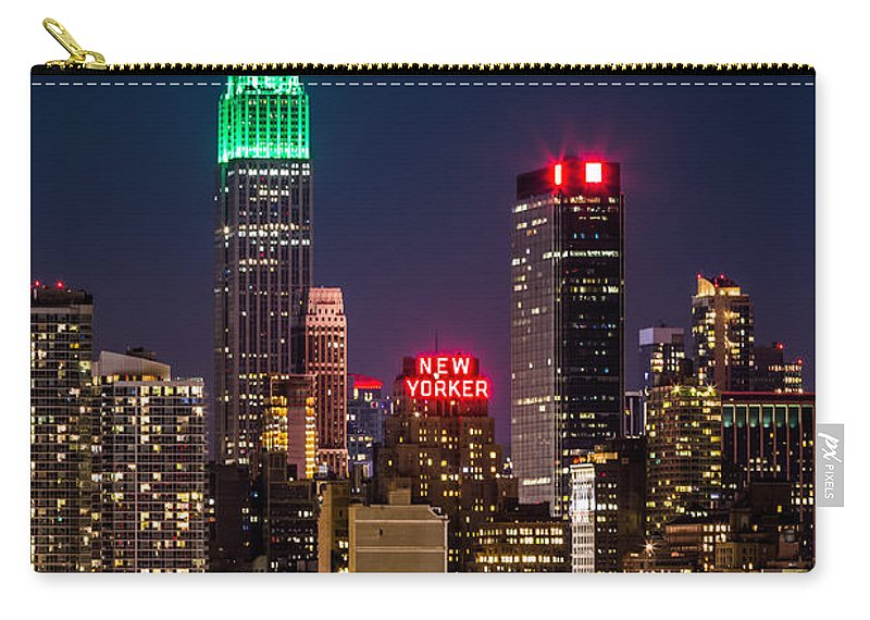 Ireland Carry-all Pouch featuring the photograph Empire State Building On Saint Patrick's Day by Mihai Andritoiu