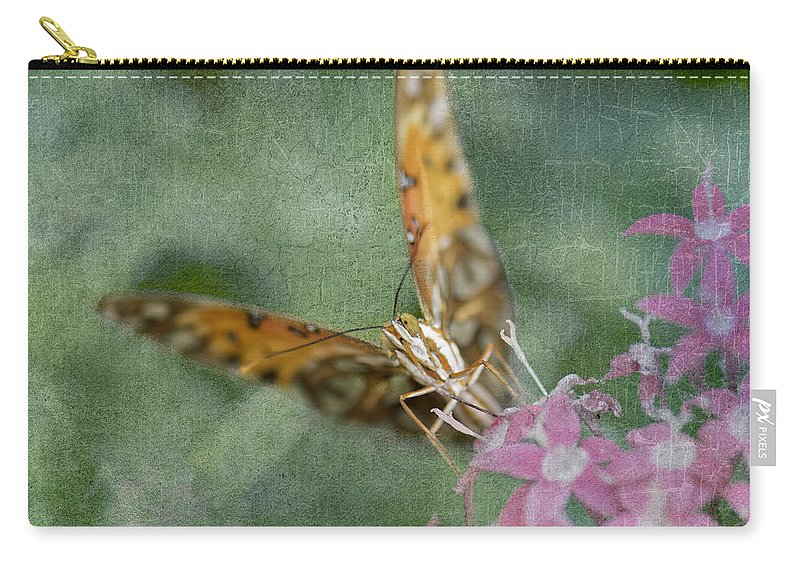 Butterflies Carry-all Pouch featuring the photograph End Of Summer by Betty LaRue