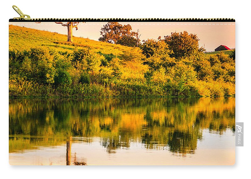 Lake Carry-all Pouch featuring the photograph Evening On The Lake by Alexey Stiop
