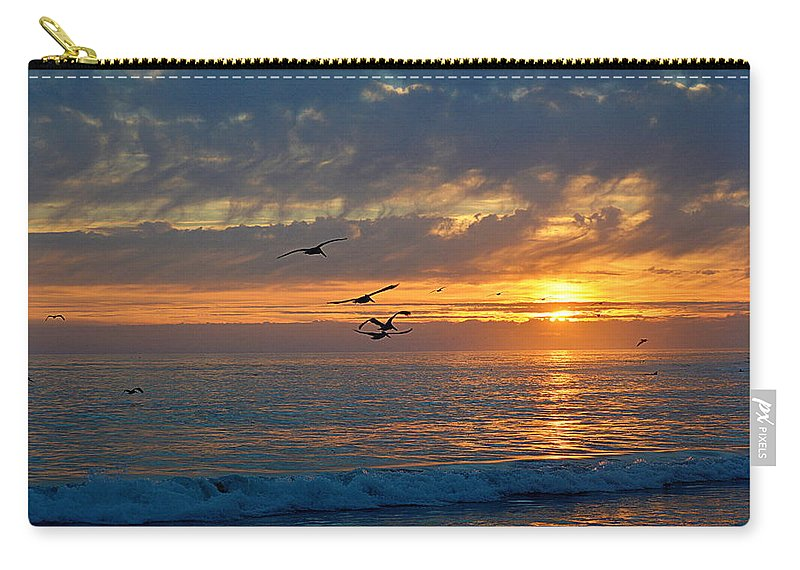 Scenic Carry-all Pouch featuring the photograph Eventide by AJ Schibig