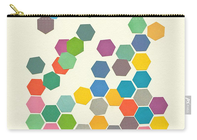Shapes Carry-all Pouch featuring the mixed media Falling Down by Cassia Beck