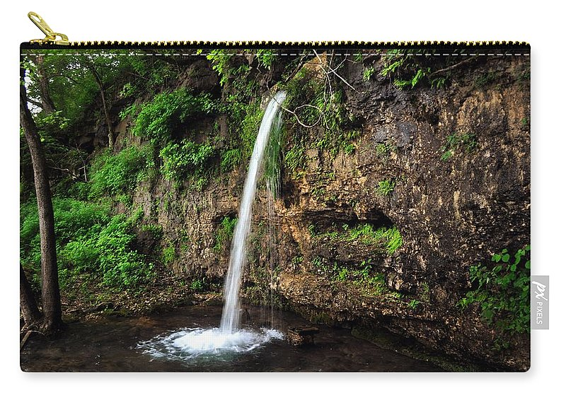 Waterfall Carry-all Pouch featuring the photograph Falling Spring by Marty Koch