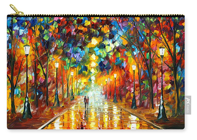 Farewell Carry-all Pouch featuring the painting Farewell To Anger by Leonid Afremov