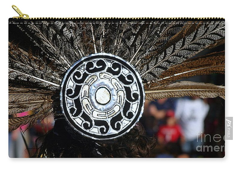 Head Carry-all Pouch featuring the photograph Feather Headdress by Henrik Lehnerer