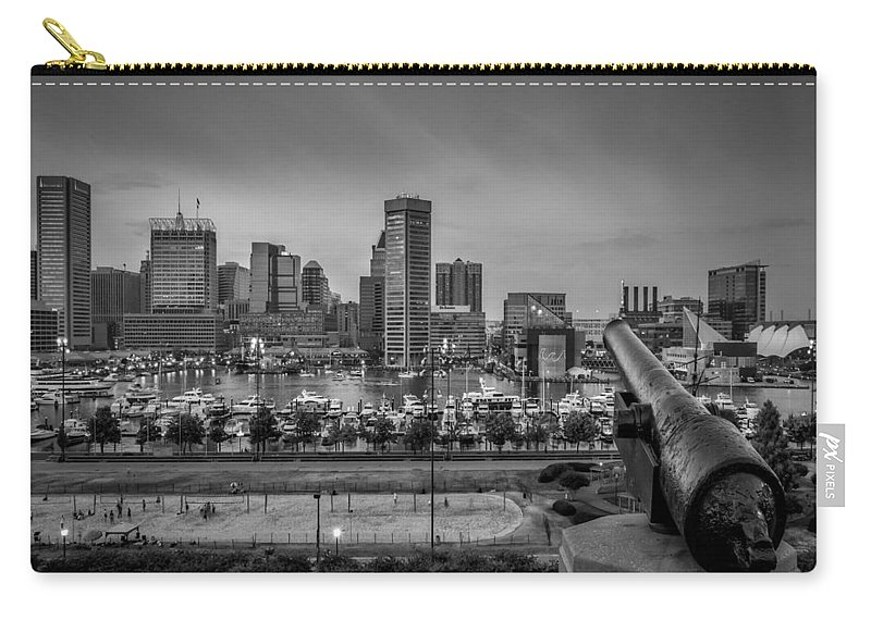Baltimore Carry-all Pouch featuring the photograph Federal Hill In Baltimore Maryland by Susan Candelario