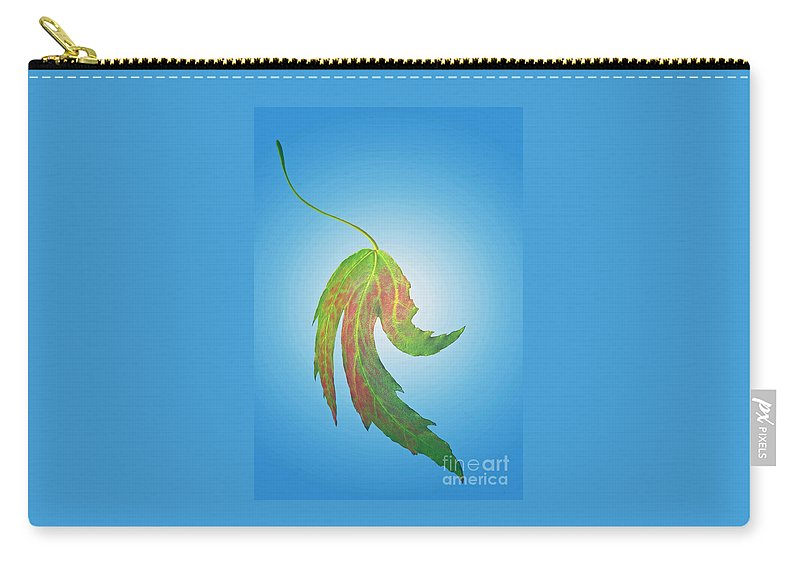 Leaf Carry-all Pouch featuring the photograph Final Fling by Ann Horn