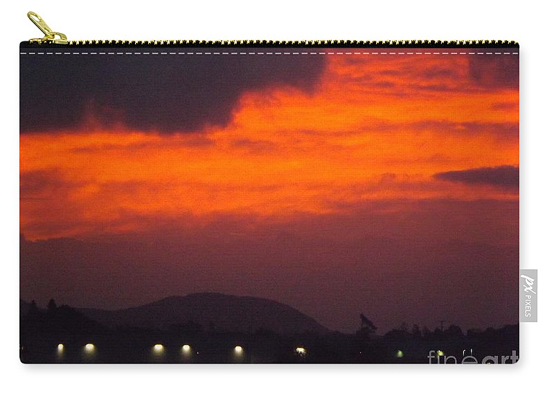Sunrise Carry-all Pouch featuring the photograph Flaming Sunrise II by Jussta Jussta