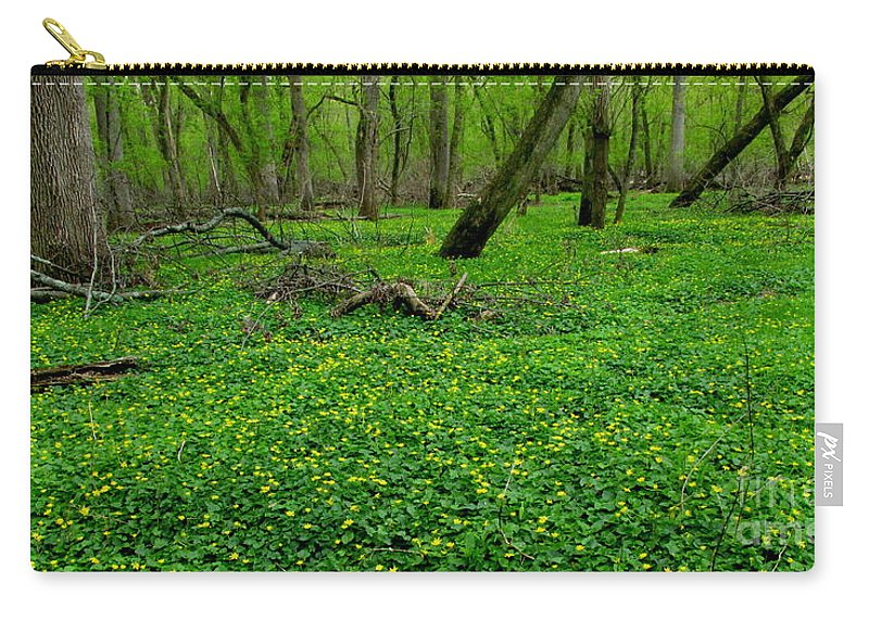 Yellow Forest Flowers Carry-all Pouch featuring the photograph Floral Forest Floor by Joshua Bales