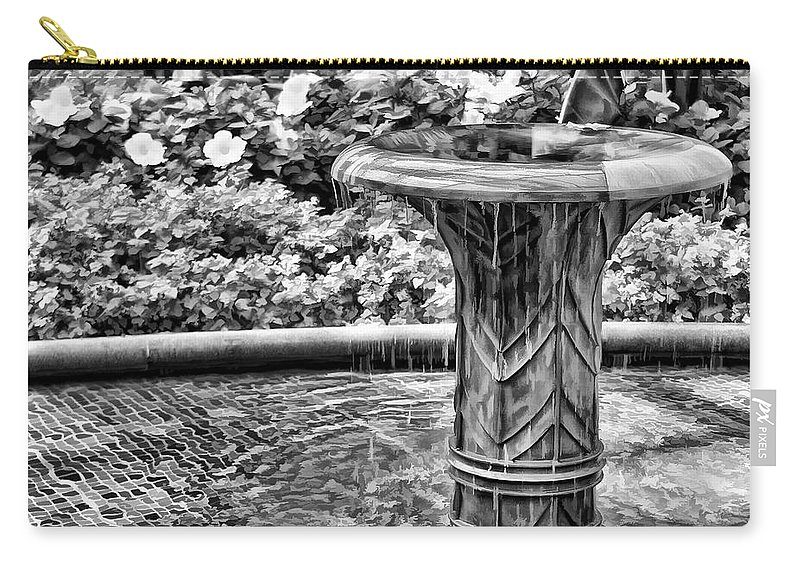 Fountain Carry-all Pouch featuring the photograph Flowing Water by Joyce Baldassarre