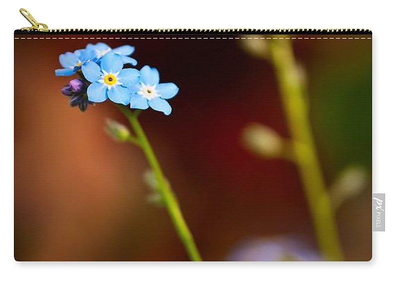 Forget-me-not Carry-all Pouch featuring the photograph Forget Me Not by Onyonet Photo Studios