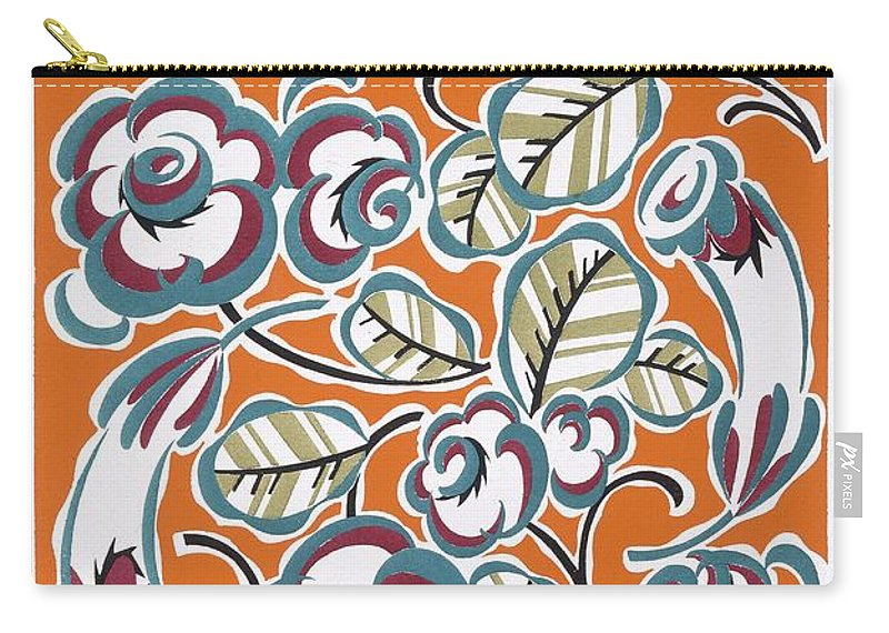 Patterned Carry-all Pouch featuring the painting Formes Et Couleurs by Auguste H Thomas